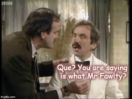 Manuel ~ You are saying is what Mr fawlty ~