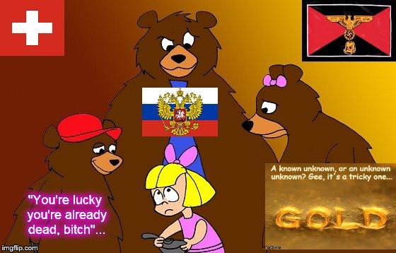 Goldilocks and the Three Zionist fascist bears ~