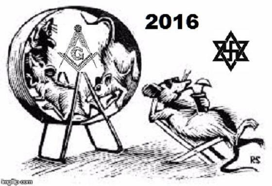 The wheel of life ~ RATS Nazis Zionists Masons ~ 2016 ~ 560