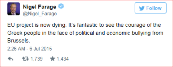 Nigel Farage Tweet ~ Infowars ~