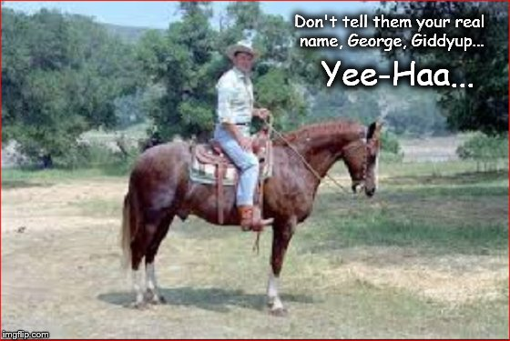 Reagan's horse George ~ Giddyup