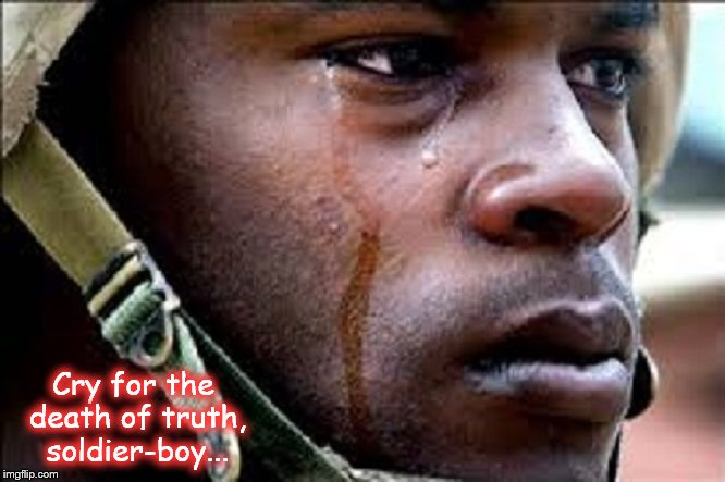 American soldier ~ Cry for the death of truth