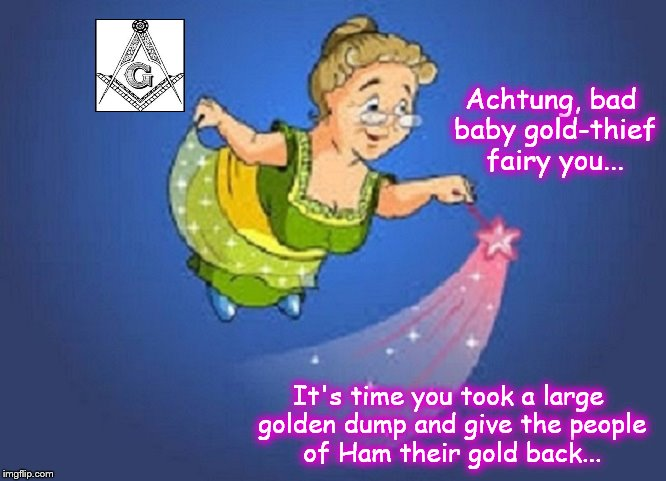 Fairy godmother Actung gold thief