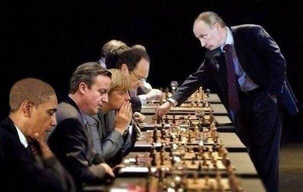 World Zionists playing chess