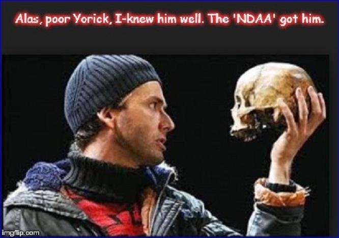 Alas poor Yorick ~ NDAA