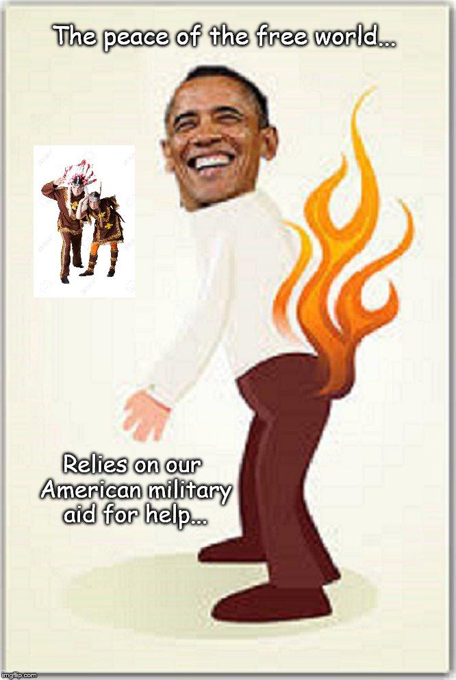 American Military Obama pantsa on fire Indians
