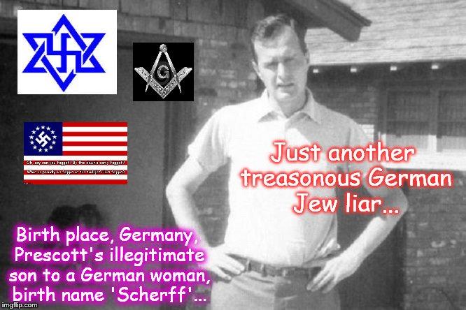 Bush treason Mason German Jew