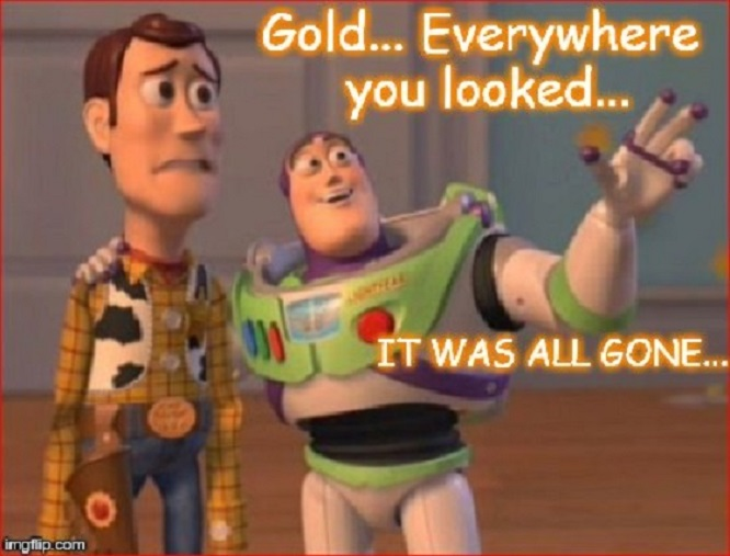 Buzz ~ Gold ~ All gone ~ 560 ~
