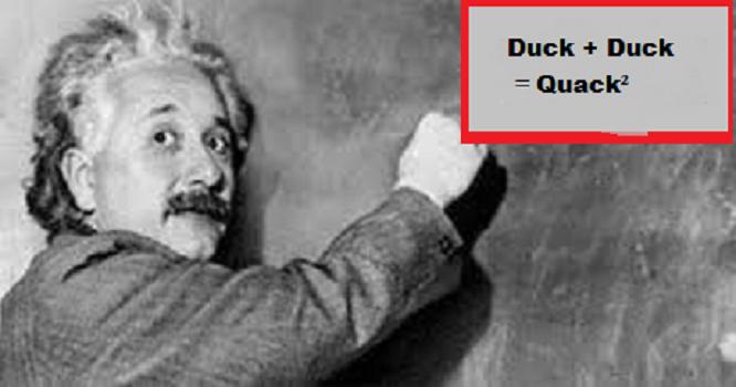Einstein Duck ~ Blank ~ Quack Squared