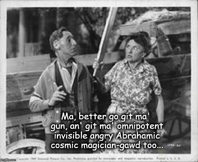 Ma and Pa ~ Git ma' god an' gun