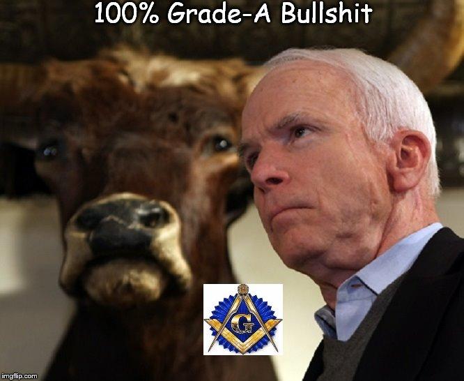 McCain 100 percent Grade A bullshit