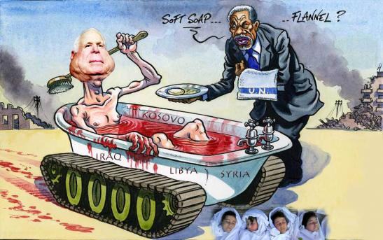 McCain Syrian blood