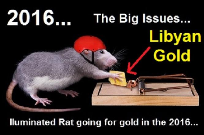 Rat Trap ~ Illuminated Rat going for Libyan Gold