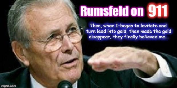 Rumsfeld lead gold god 911