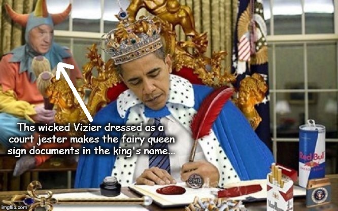 The wicked Vizier King Obama queen ARROW