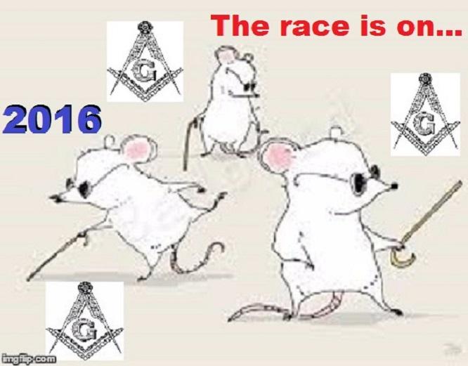 Three blind Masonic mice ~ 2016 ~