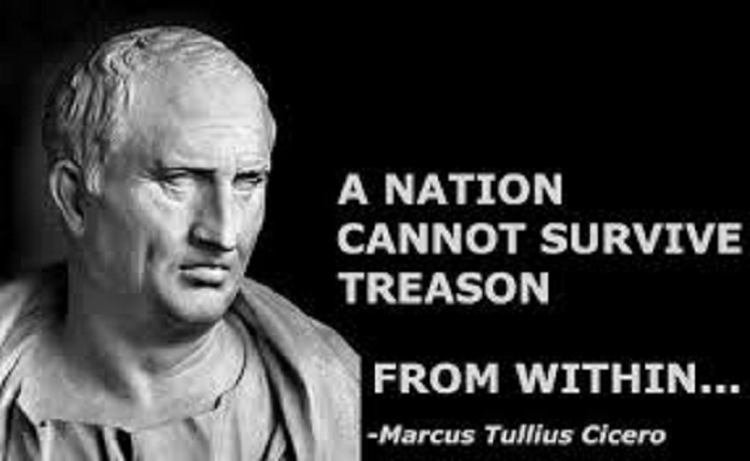 A nastion cannot survive treason from within