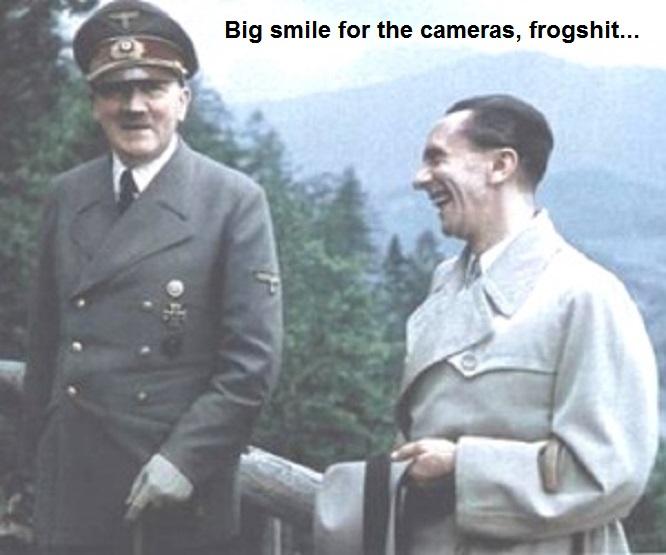 Adolf Hitler and Himmler ~ Smile for the cameras frogshit