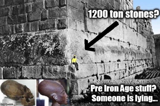 Baalbek 1200 ton stones pre iron age Conehad Egyptian