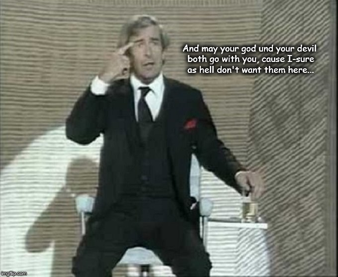 Dave Allen ~ God go with you
