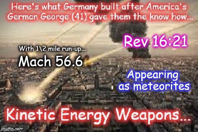 Kinetic energy weapons MACH 56.6 Rev 16-21