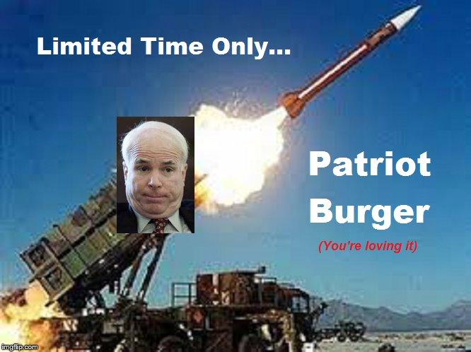 McCain Patriot Burger