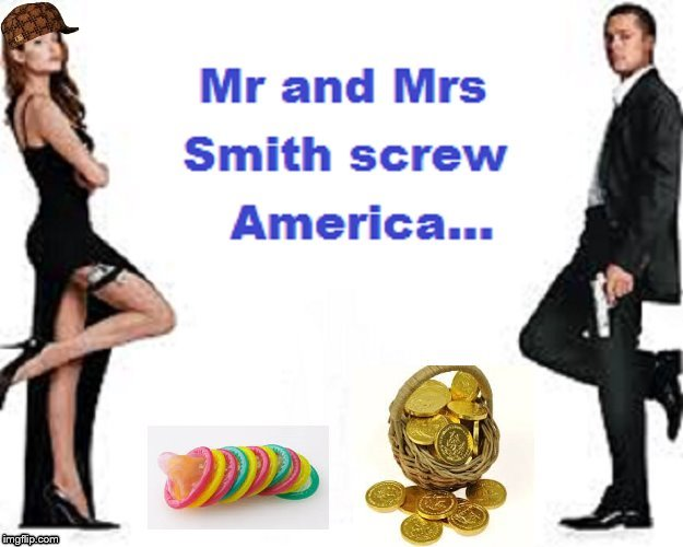 Mr and Mrs Smith screw America scumbag hat