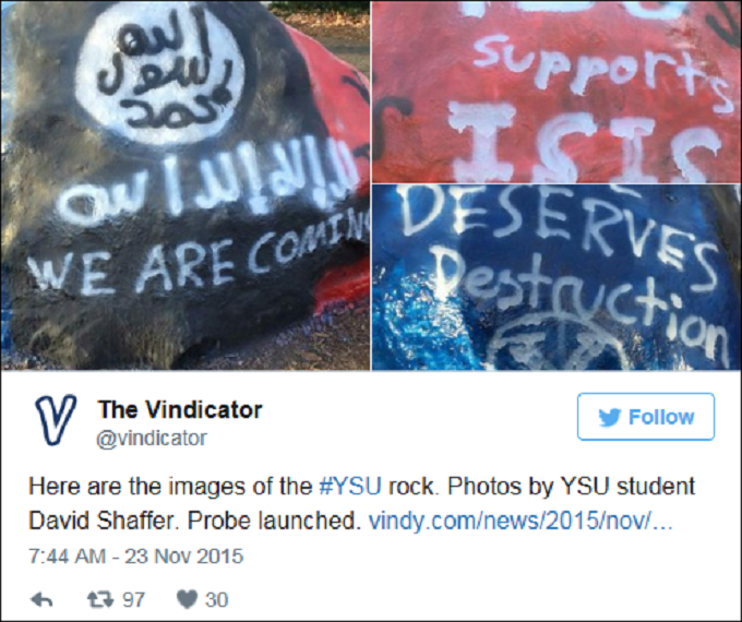 PP Screenshot 'ISIS' fools college campus