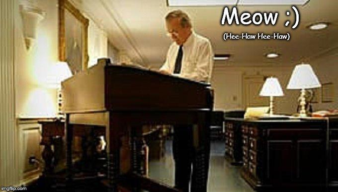Rumsfeld Meow Hee-Haw