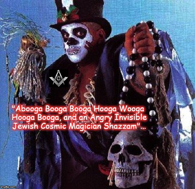 The Witch Doctor black pope Mason