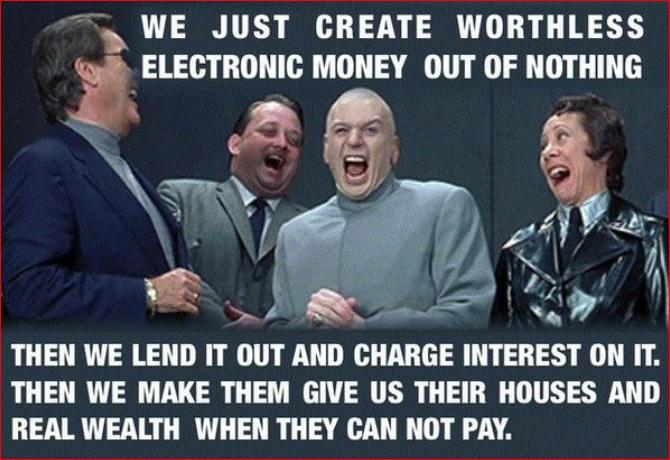 We just create money