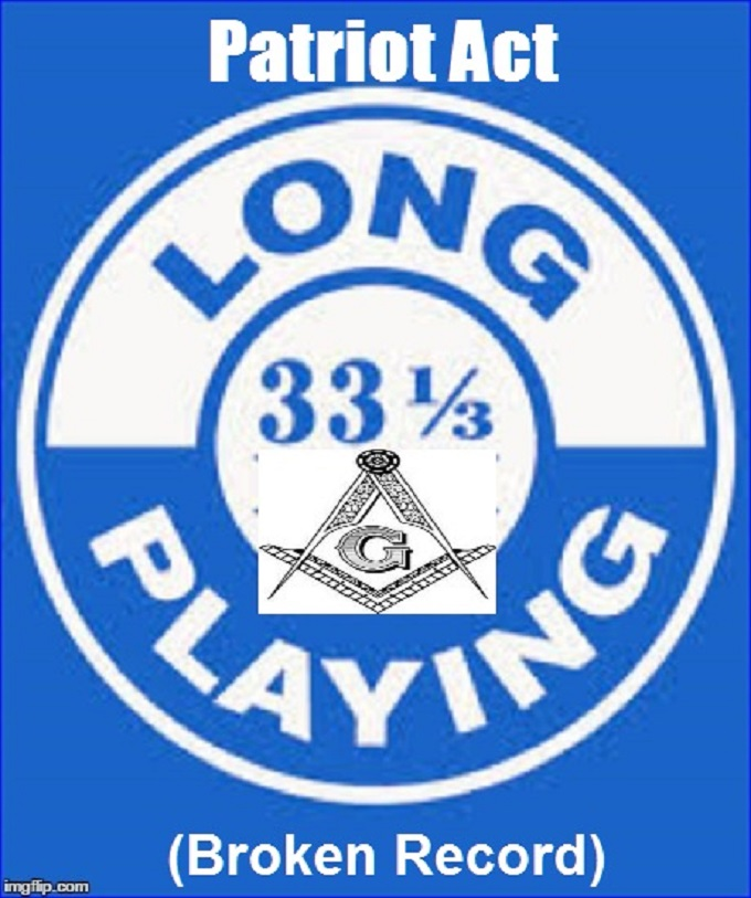 33 1-3 Masonic Long Playing Broken Record ~ Patriot Act ~ (2)
