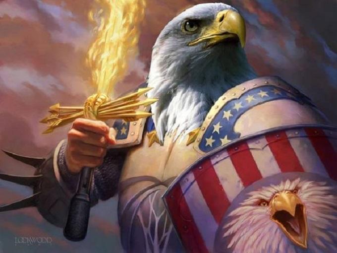 American eagle fiery arrows