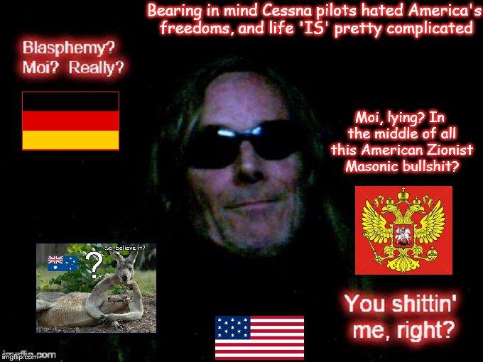 Blasphemy in Masonic German Russian American Masonic Bullshit