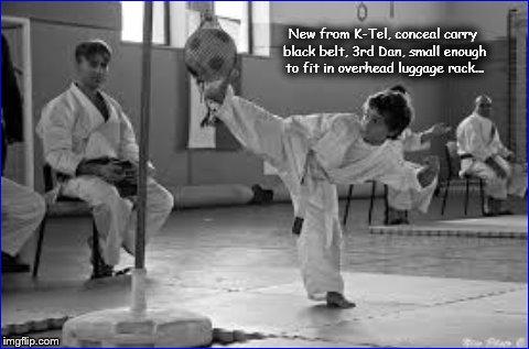 Conceal carry black belt Karate