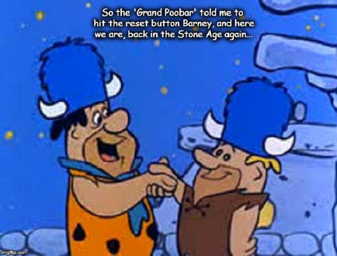 Fred Flintstone ~ Reset button ~ Stone Age