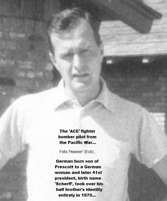 GHW Bush ~ Early ~ 1950's ~ Felix 'HEAVIER' fighter bomber pilot