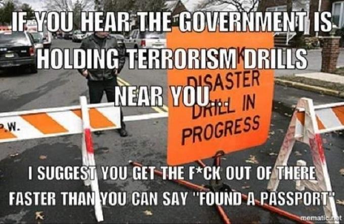 Government terrorism drills