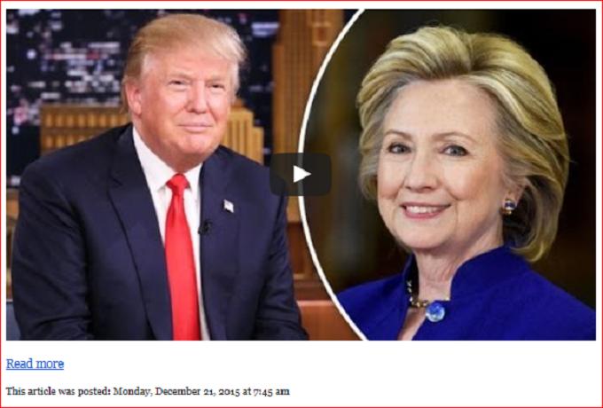 Hillary and Trump Screenshot 'READ-MORE' link