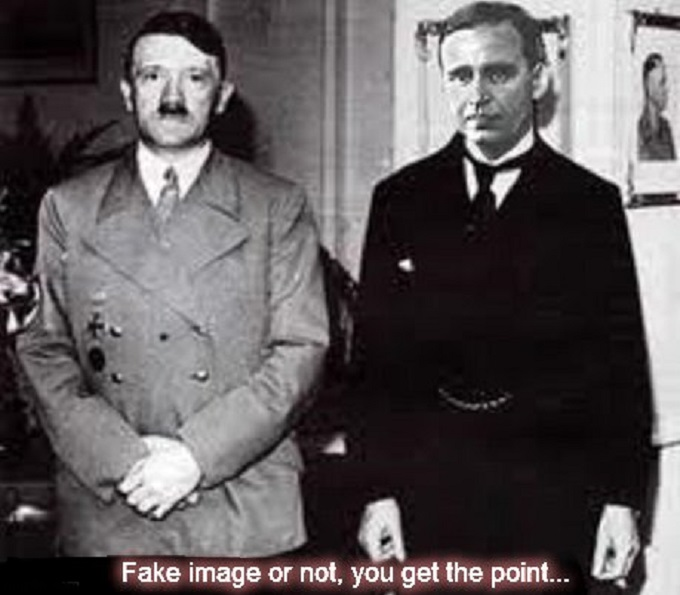 Hitler and Prescott ~ Fake image or not ~