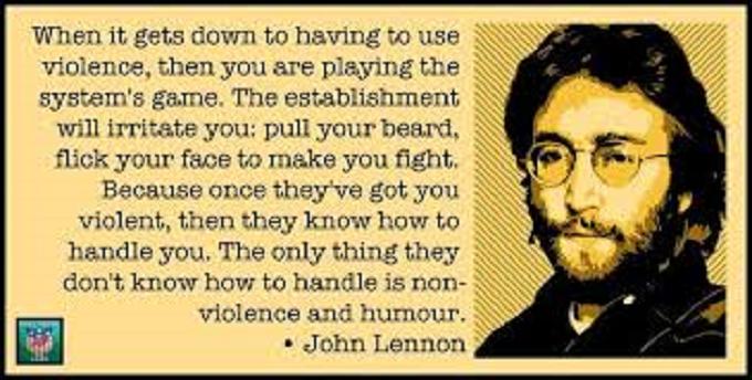 John Lewnnon non VIOLENCE