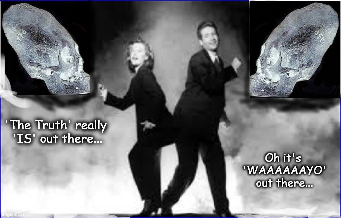 Mulder and Scully Waaayo out there truth