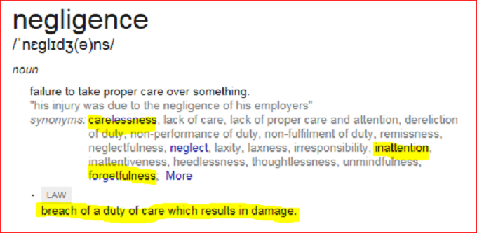 Negligence Meaning
