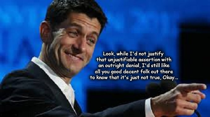 Paul Ryan ~ Denial