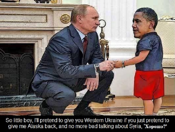Putin and Obama lets just pretend UKRAINE 680