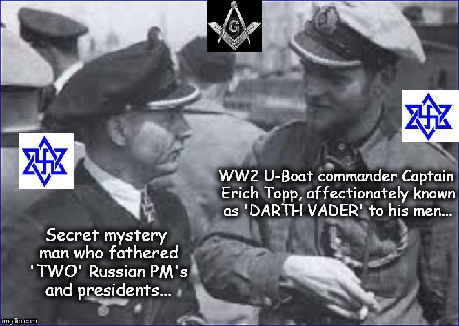 Topp and Putin's father + Masonic symbol