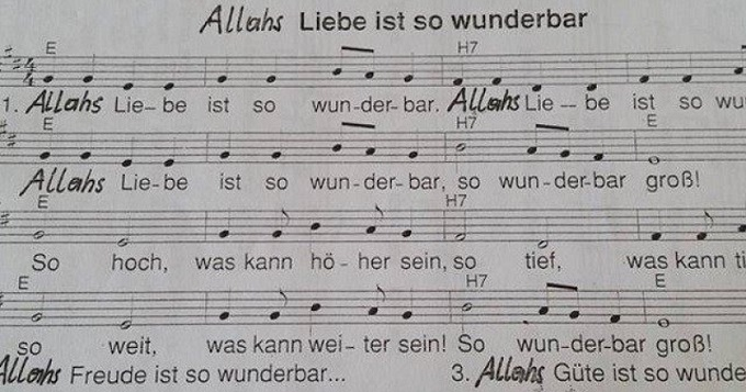 Allah music score
