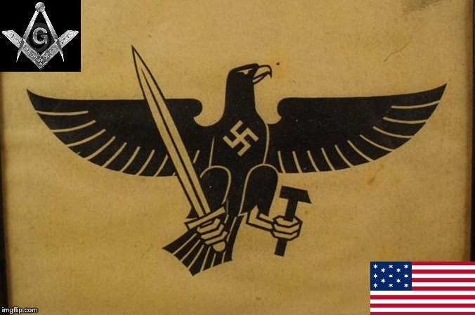 German Eagle black American Mason