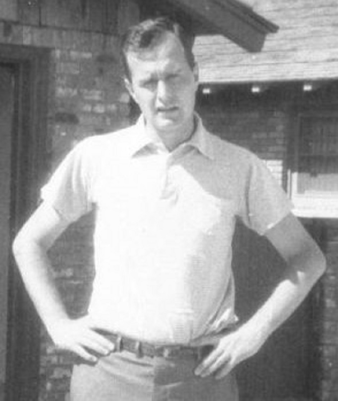 GHW Bush ~ Early ~ 1950's ~ Narrow skinny shot