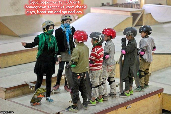 Girl Skater TSA homegrown terror spot check